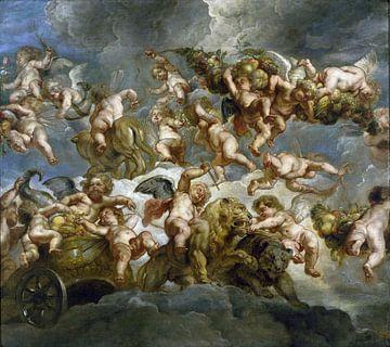 Engel mit von Löwe und Bär getragener Kutsche - Peter Paul Rubens, 1633 von Atelier Liesjes