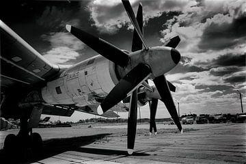 Propellers van de Tupolev 142 van Caught By Light