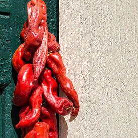 Rode pepers  von Yvonne van der Meij