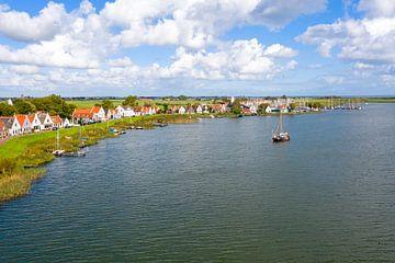 Luftaufnahme des Dorfes Durgerdam bei Amsterdam von Nisangha Masselink