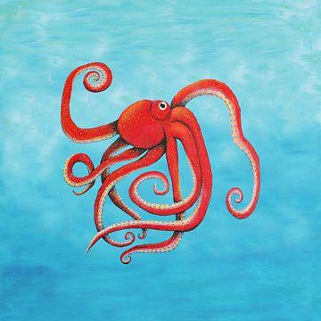 Octopus van Bianca Wisseloo