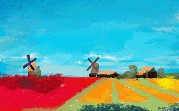 Niederländische Landschaft von Nicole Habets