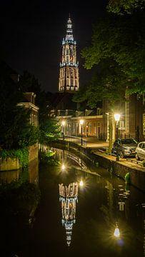 Onze Lieve Vrouwetoren, Amserfoort by Night van Frank Bakker