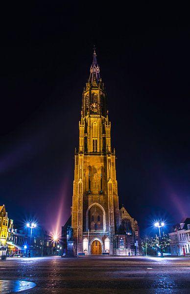Delft | Nieuwe Kerk bij nacht van Ricardo Bouman | Fotografie