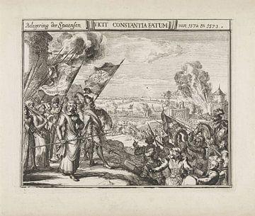 Kenau Hasselaer auf der Stadtmauer von Haarlem, 1573