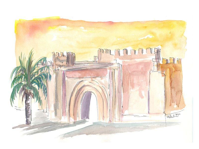 Taroudant Oude Stadspoort in Marokko van Markus Bleichner