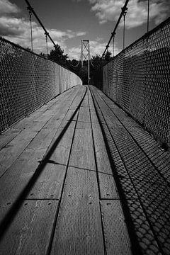 Hanging bridge, Quebec, Canada von Luis Boullosa
