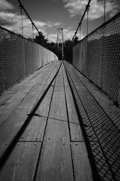 Hanging bridge, Quebec, Canada van Luis Fernando Valdés Villarreal Boullosa