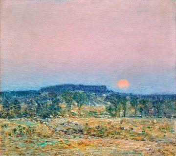 Childe Hassam, Der Mond geht auf im September, 1900 von Atelier Liesjes