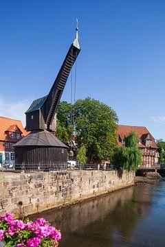 Vieille grue, moulin de Lüner, Ilmenau, vieille ville, Lüneburg, Basse-Saxe, Allemagne, Europe sur Torsten Krüger