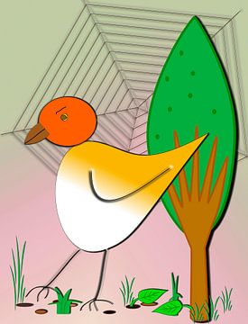 Kinderzimmerbild  -  Vogel van Roswitha Lorz