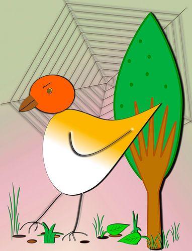 Kinderzimmerbild  -  Vogel
