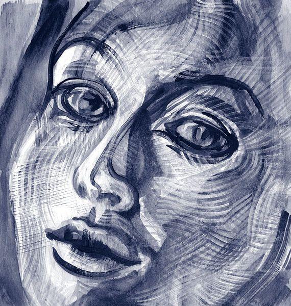 Bewegende emoties van een vrouw van Eva van den Hamsvoort
