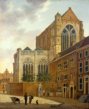 Der Munsterkerkerkhof mit Umgebung in Utrecht, Hendrik van Oort - 1820 von Atelier Liesjes
