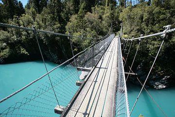 Brug Blauw Meer Nieuw-Zeeland van Bijzonder Landschap