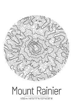 Le Mont Rainier | Topographie de la carte (Minimal) sur ViaMapia