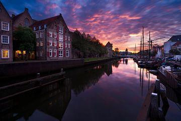 Zwolle Zonsondergang van Rick Kloekke