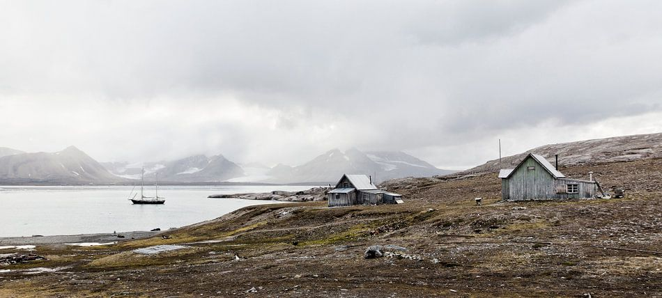 Oud mijnstation Spitsbergen van Marloes van Pareren