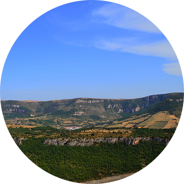 Panorama van het viaduct van Millau van Willem van den Berge