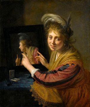 La fille au miroir, Paulus Moreelse