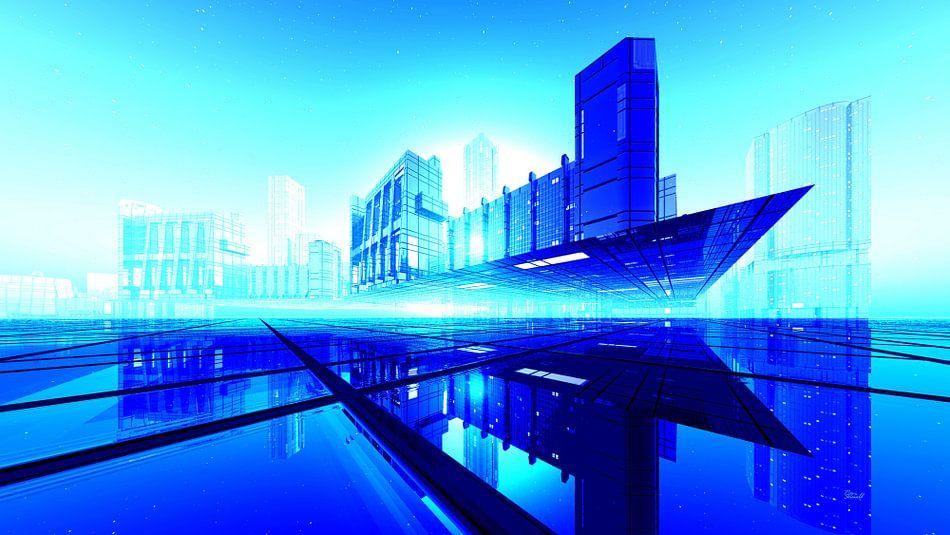Downtown View blau