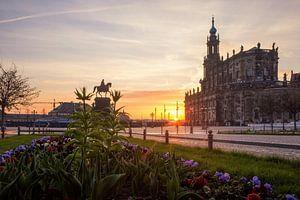 Aprilochtend in Dresden van Sergej Nickel