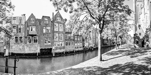 Binnenstad van Dordrecht Nederland Zwart-Wit