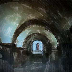 Ingang van de crypte