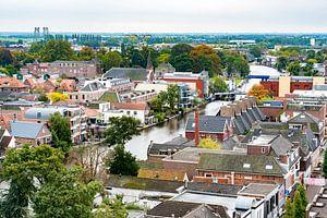 Zicht op deel oude centrum van Alphen aan den Rijn