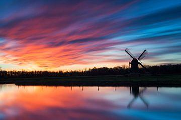 Sunset at Knip Molen van Dawn Black