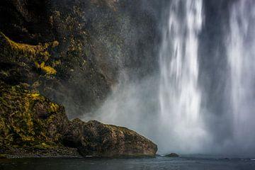 Waterval Skogafoss van Peter Poppe