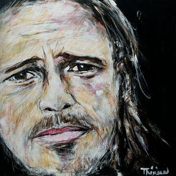 Portret van Brad Pitt, William Bradley Pitt van Therese Brals