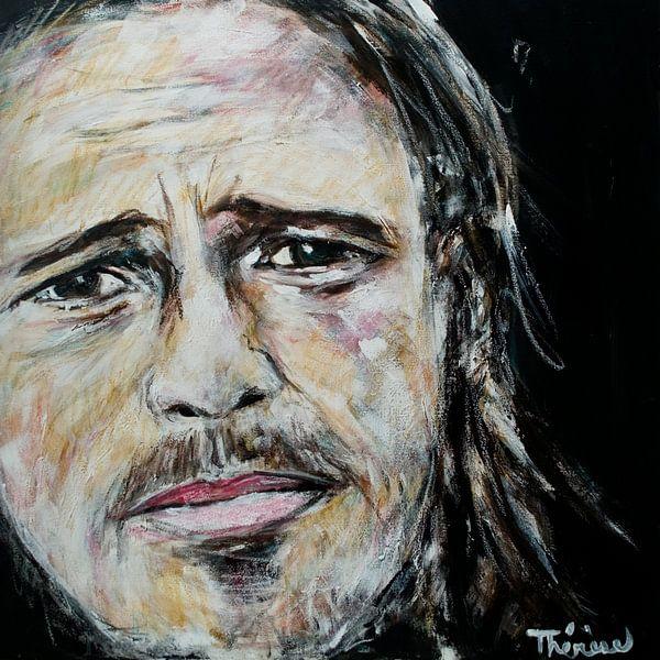 Porträt von Brad Pitt. von Therese Brals