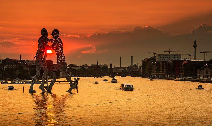 Coucher de soleil à Berlin sur Frank Herrmann