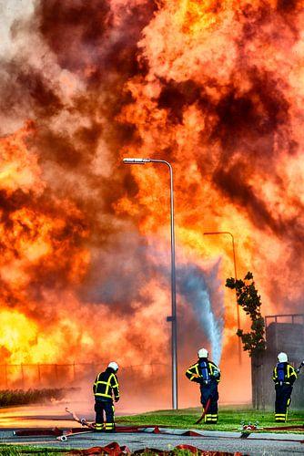 Brandweer voor een vlammenzee