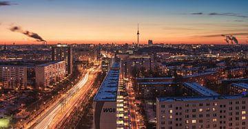 Le ciel de Berlin par une soirée d'hiver sur Jean Claude Castor