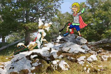 Siegfried's overwinning op Beast Barf van HEUBEERE Cartoons