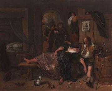 Het dronken paar, Jan Havicksz. Steen