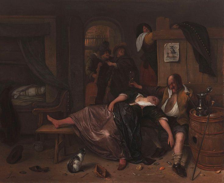 Het dronken paar, Jan Havicksz. Steen van Meesterlijcke Meesters
