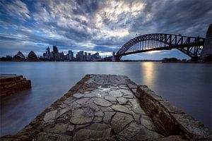 Sydney skyline zonsondergang