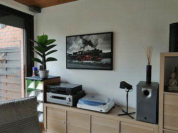 Kundenfoto: Dampflok fährt auf dem Land von Sjoerd van der Wal