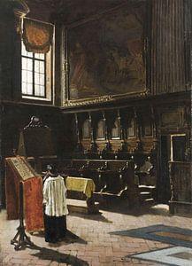 Het koor van de Sant'Antonio-kerk in Milaan, Giovanni Segantini, een koor van de Sant'Antonio-kerk i