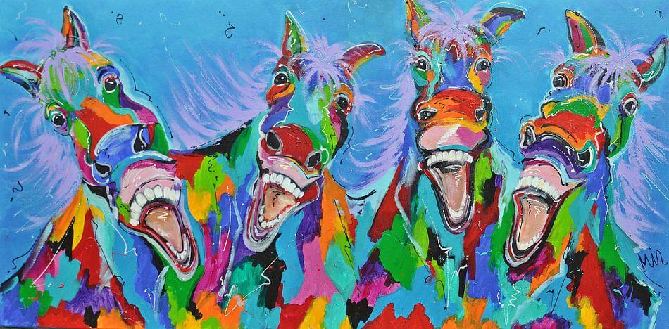 -Paarden met humor van Kunstenares Mir Mirthe Kolkman van der Klip