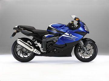BMW K 1300 metallic blauw motorfiets van Ronald George