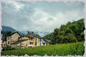 Dorf in den Bergen von claes touber
