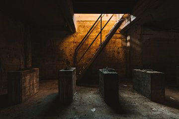 La salle de l'industrie orange