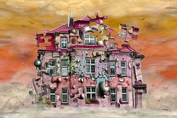 Das Spielhaus mit Kugeln und Puzzle