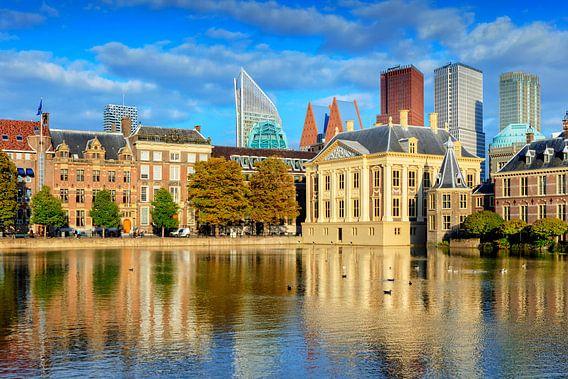 Mauritshuis en het Torentje van de Minister-President aan de Hofvijver