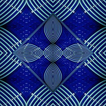 fotoGrafiek 84 (Blue cups 2) van Hans Levendig
