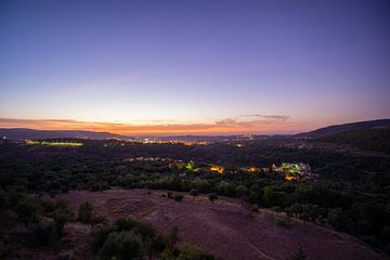 Zonsondergang in Demnate Marokko van Eline Chiara